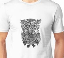 Zentangle Owl Unisex T-Shirt