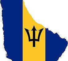 Barbados Flag Map  by abbeyz71