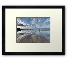 Walk on the beach Framed Print