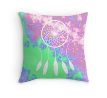Psychedelic Dream Catcher Throw Pillow