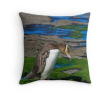 Yellow-eyed Penguin Throw Pillow