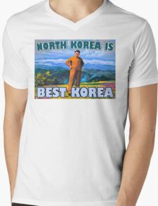 north korea best  Mens V-Neck T-Shirt