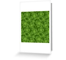 Clover pattern Greeting Card
