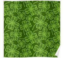 Clover pattern Poster