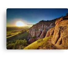Sunset in the mountains, Red Ravine Canvas Print