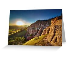 Sunset in the mountains, Red Ravine Greeting Card