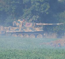 Tiger 1 in Action by Tony Dewey