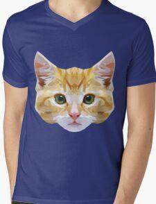 Crystalline Cat Mens V-Neck T-Shirt