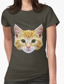 Crystalline Cat Womens Fitted T-Shirt