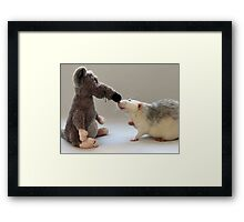 Me and my new friend. Framed Print