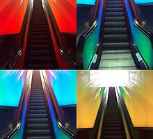 Escalators-collage by biddumy