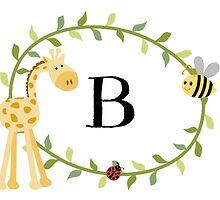Nursery Letters B by mezzilicious