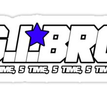 G.I BRO T-SHIRT Sticker