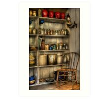 The chair in the corner of the kitchen Art Print