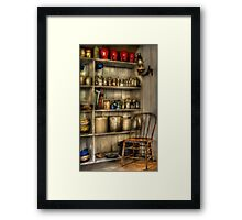 The chair in the corner of the kitchen Framed Print