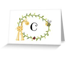 Nursery Letters C Greeting Card