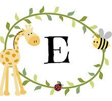 Nursery Letters E by mezzilicious