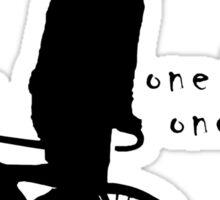 Fixie - one bike one gear - skidding (black) Sticker