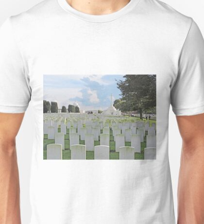 Tyne Cot Commonwealth War Graves, near Ypres, Belgium Unisex T-Shirt
