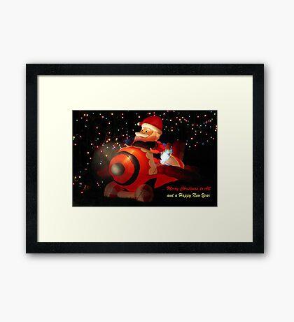Flying in Style…Ho! Ho! Ho!  Framed Print
