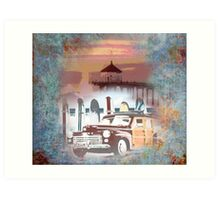 Manhattan Beach California Pier Art Print