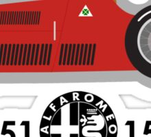 1950-51 Alfa Romeo 158-159 F1 world championship winning car Sticker