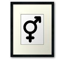 Male female love Framed Print