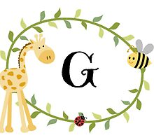 Nursery Letters G by mezzilicious