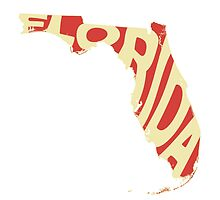 Florida State Word Art by surgedesigns
