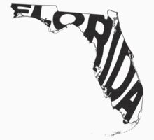 Florida State Word Art Kids Clothes