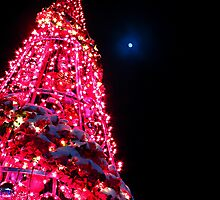 Pink Christmas Tree by Carole Brunet