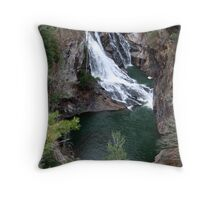 Hurricane Falls, Rabun County Throw Pillow