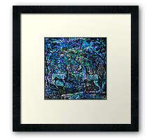 "Alchemical Secrets - ""The Stag And The Unicorn"" Framed Print"
