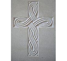 White Cross Photographic Print
