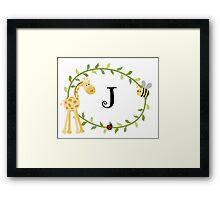 Nursery Letters J Framed Print