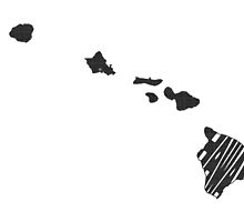 Hawaii State Word Art by surgedesigns