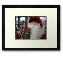 Pet Store Santa Framed Print