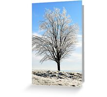 Alone in the Freezing Cold Greeting Card