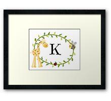 Nursery Letters K Framed Print