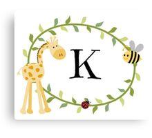Nursery Letters K Canvas Print