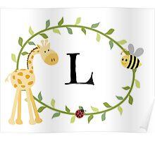 Nursery Letters L Poster