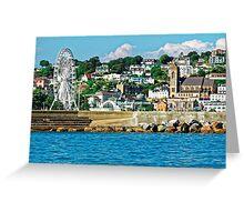 Torquay - A Cruise Ship View, Devon, England Greeting Card