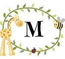 Nursery Letters M by mezzilicious