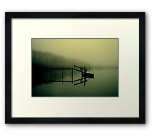 Reflections on Noyac Bay Framed Print