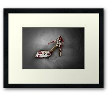 Wedding Shoe Framed Print