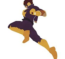 Captain Falcon Flying Knee by Longorious