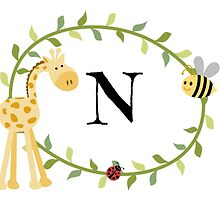 Nursery Letters N by mezzilicious