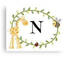 Nursery Letters N Canvas Print