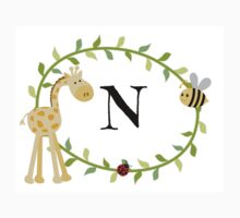 Nursery Letters N One Piece - Long Sleeve