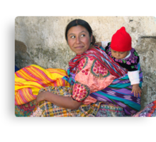 MOTHER AND CHILD - GUATEMALA Canvas Print